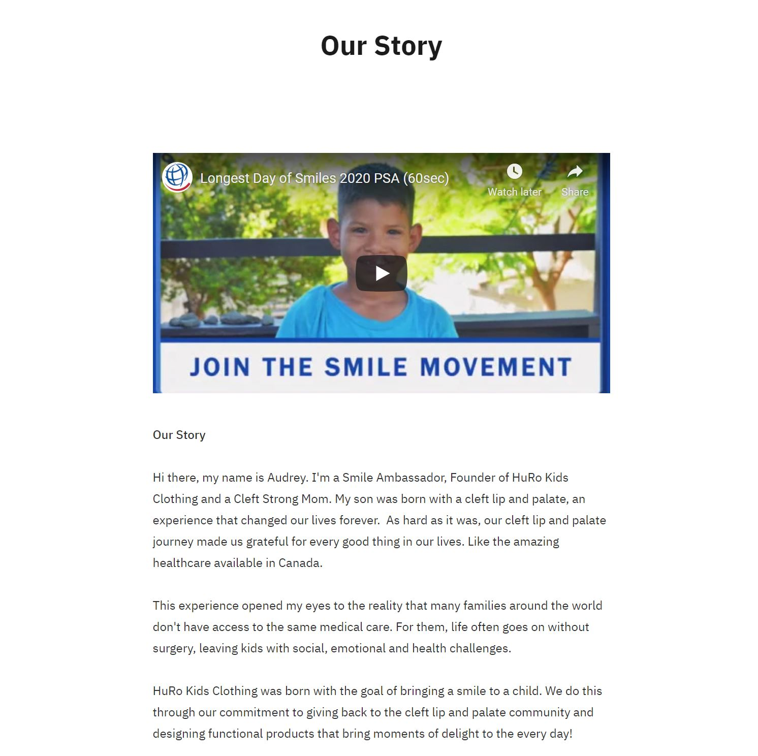 Our Story Example