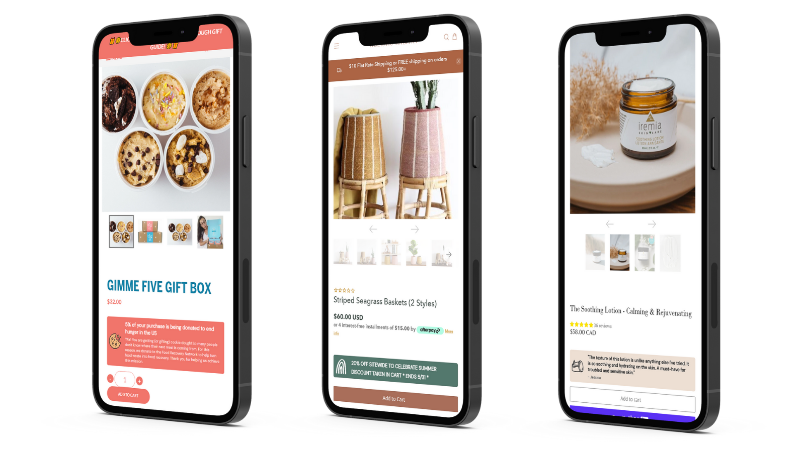 Banners on product pages