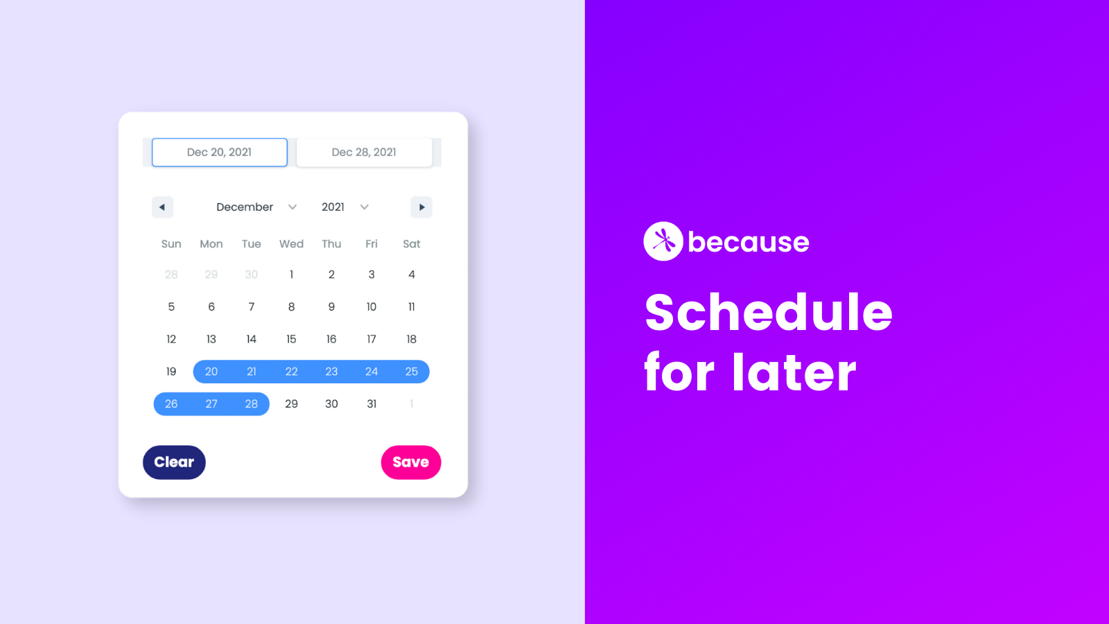 New in Because: Schedule Your Shopify Product Page Banners