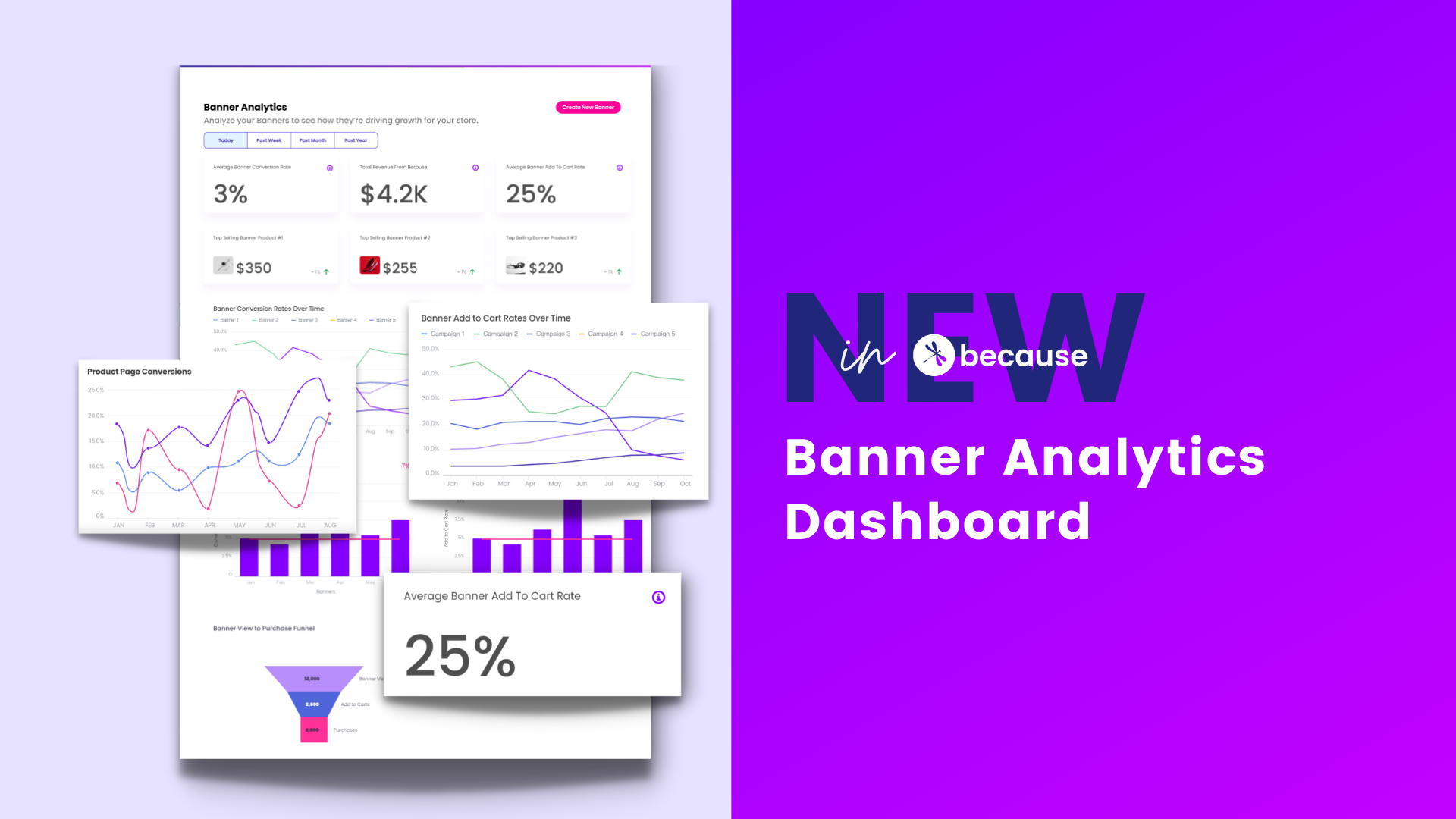 New in Because: Analytics Dashboard
